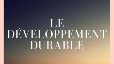 le développement durable