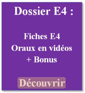 dossier E4 oral