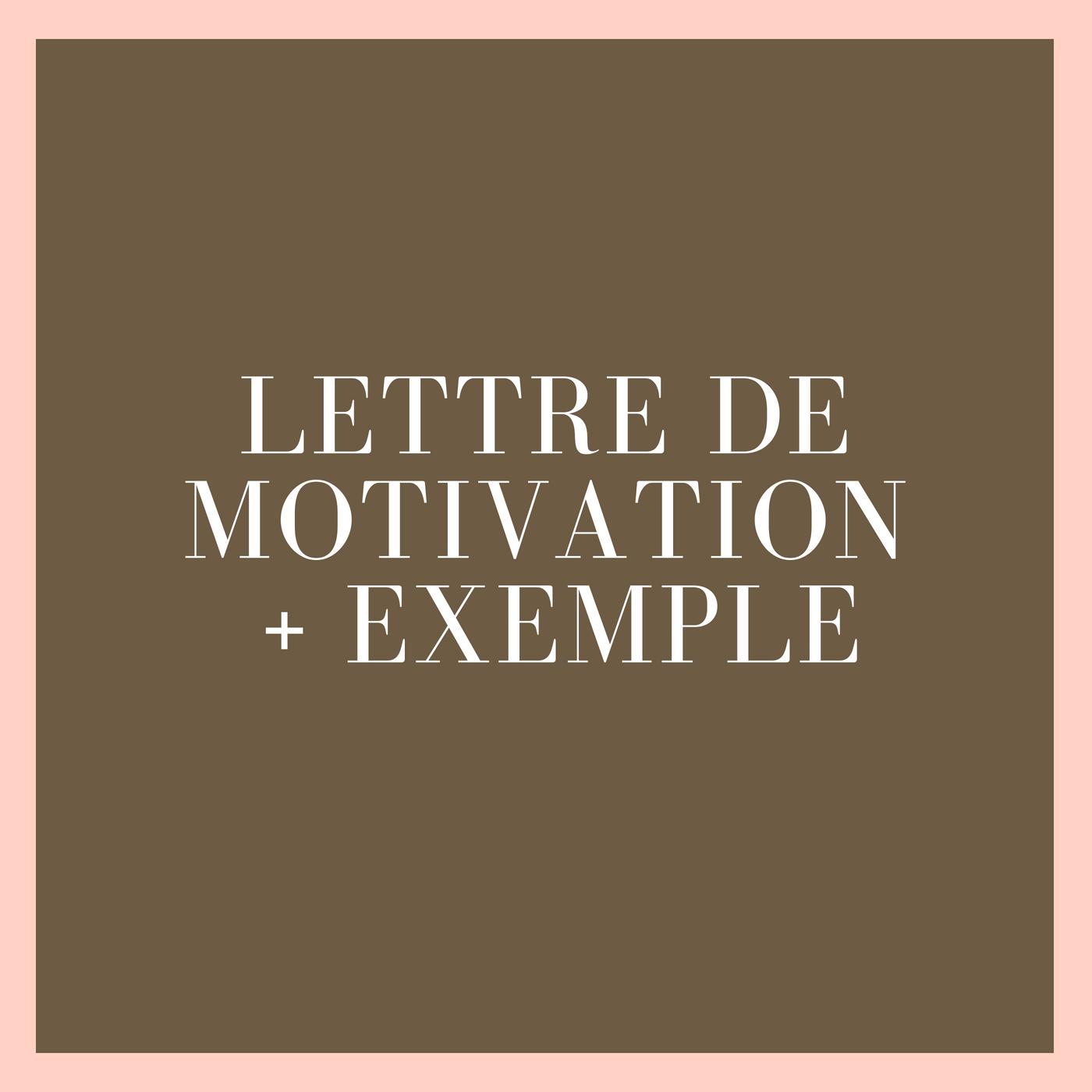 Lettre de motivation recherche de stage