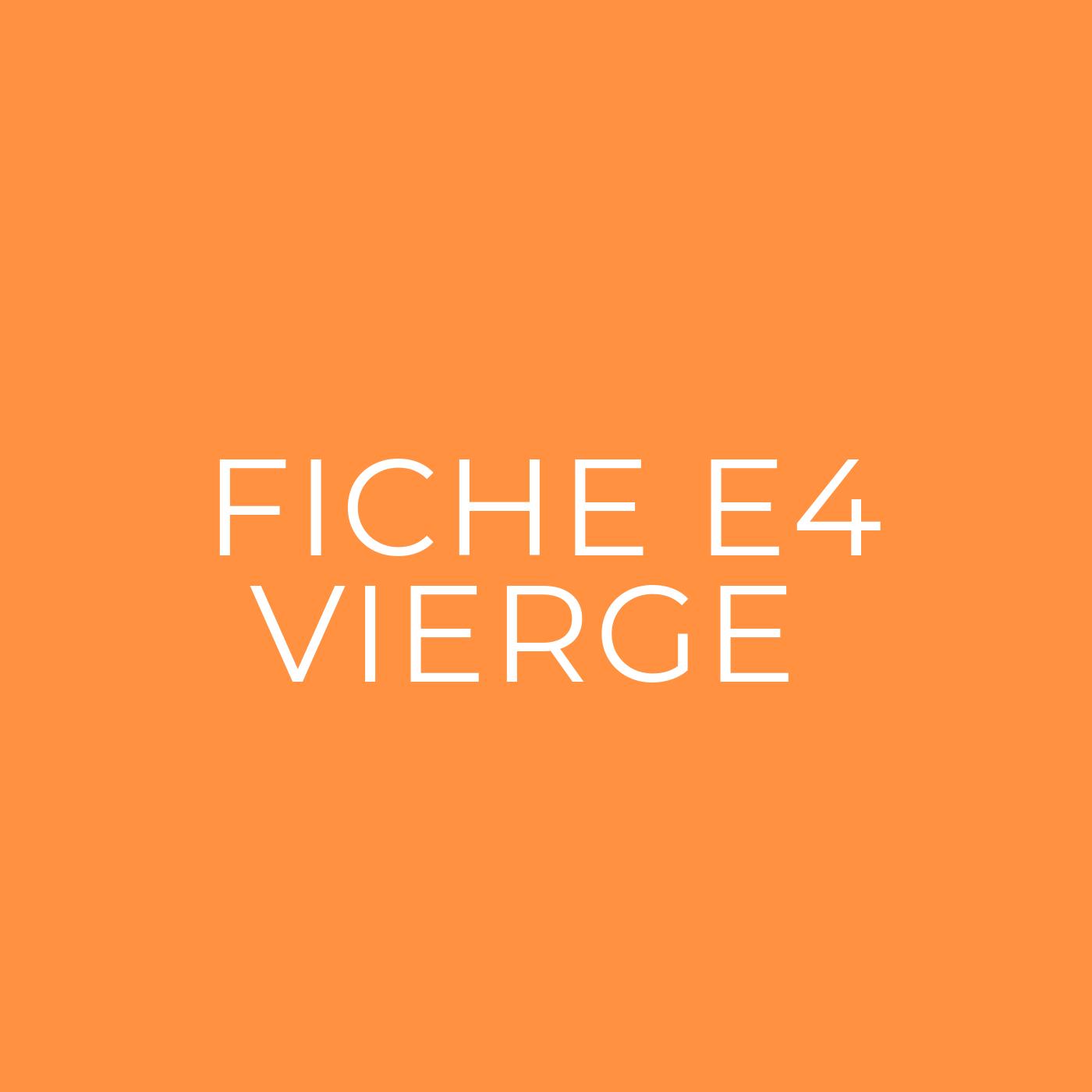 Fiche E4 vierge à télécharger
