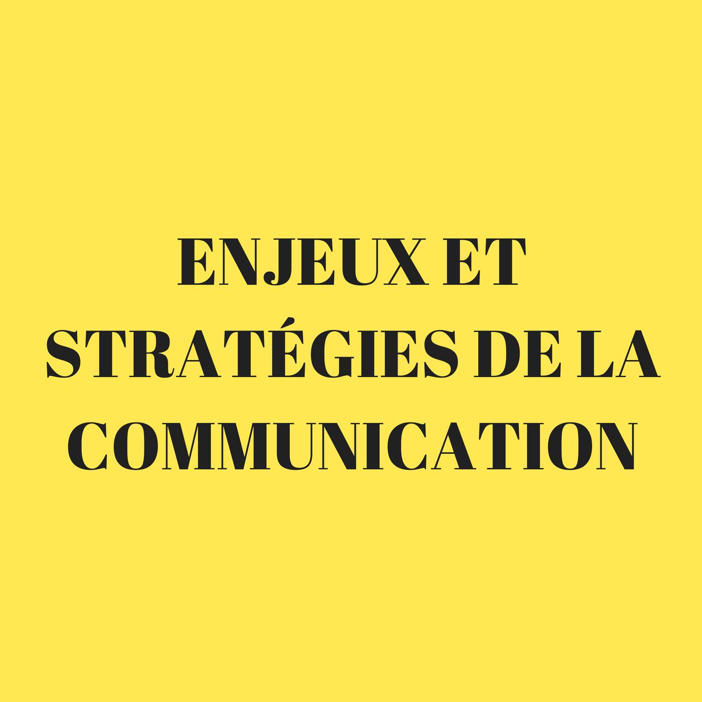 Enjeux et stratégies de la communication