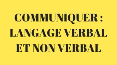 langage verbal et non verbal