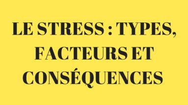 les types de stress, facteurs et conséquences
