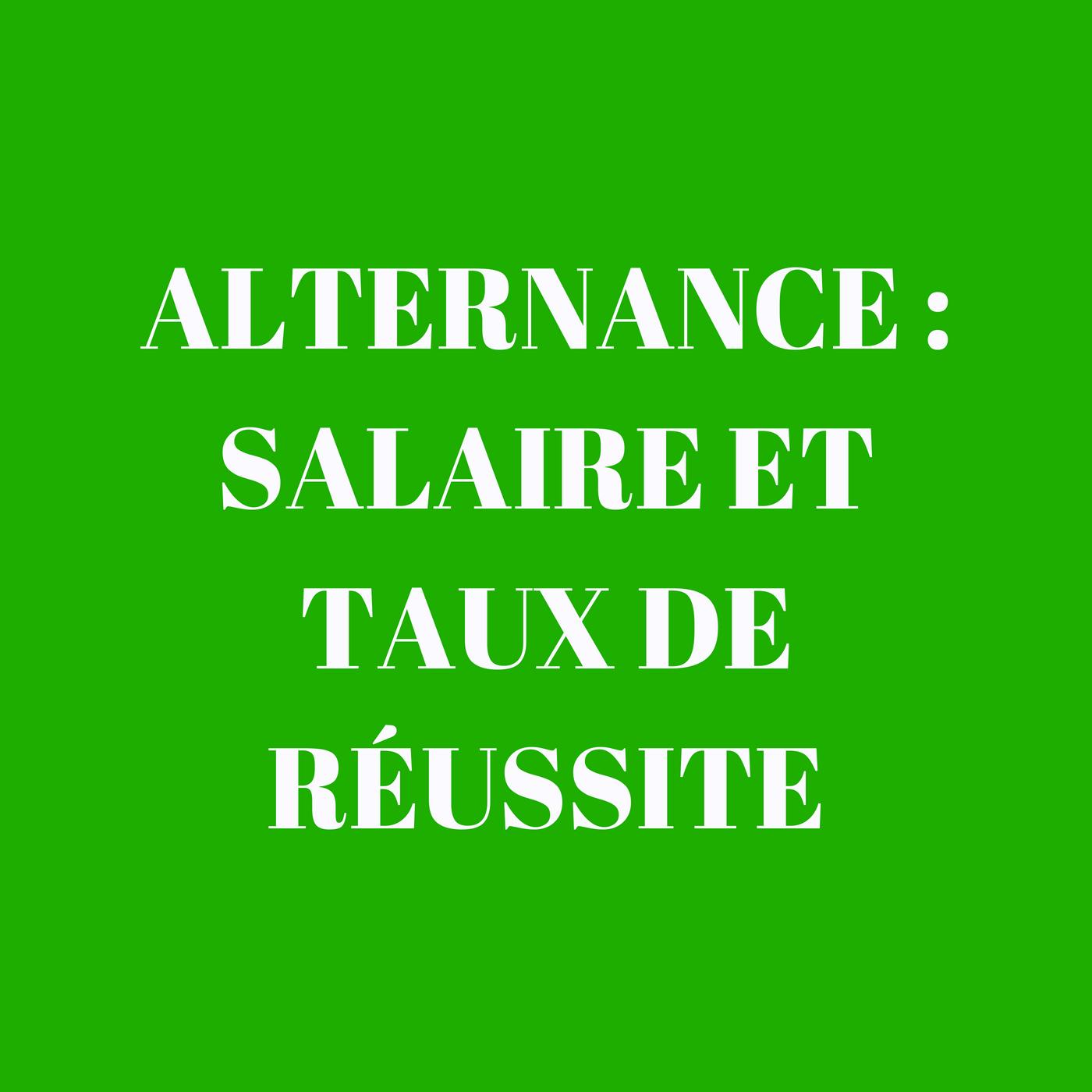 Alternance : salaire et taux de réussite