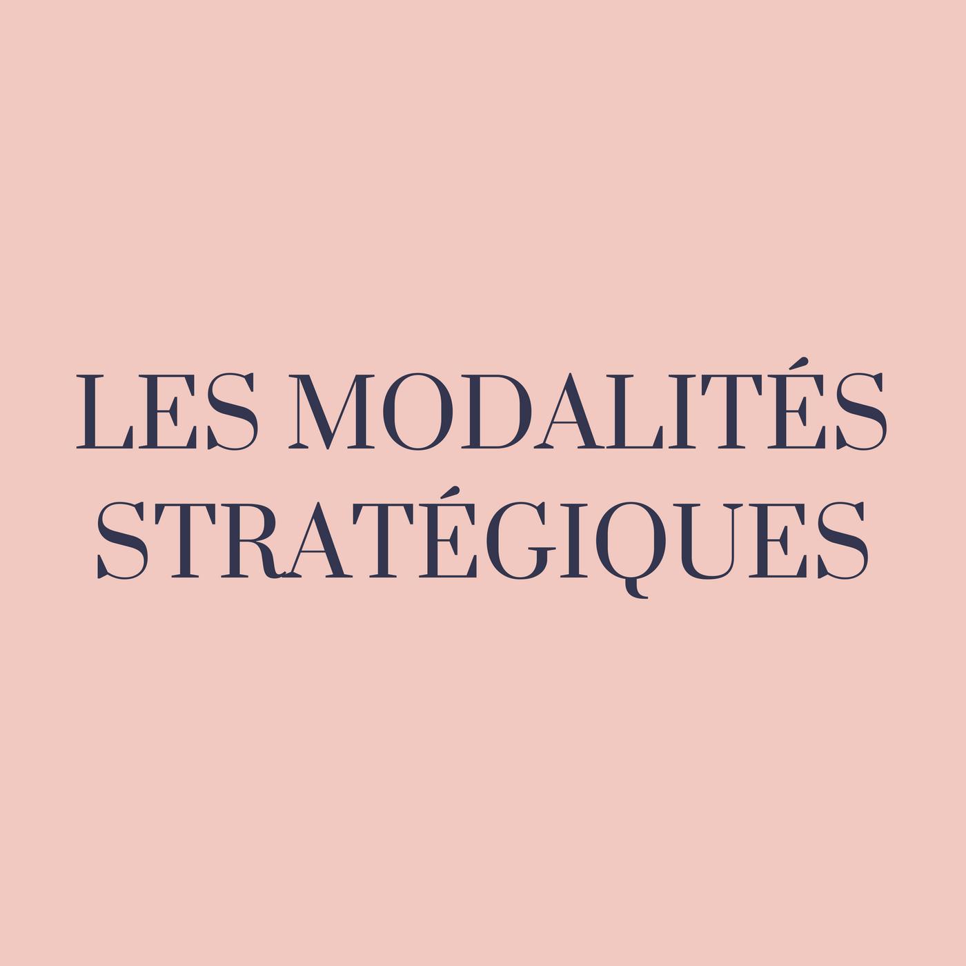 Les modalités de développement stratégique