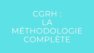 méthodologie CGRH BTS SAM